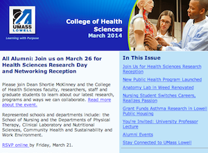 Newsletter: College of Health Sciences